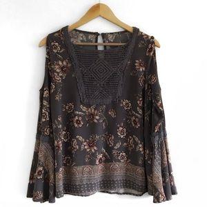 knox rose | bell sleeve floral top